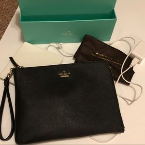 Kate Spade NEW Just Charge It  black clutch